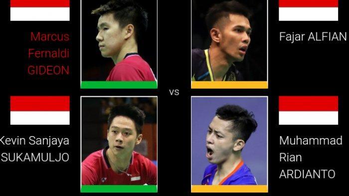 7 Wakil Indonesia Main Perempat Final Singapore Open: Marcus/Kevin dan Fajar/Rian Bertemu Lagi