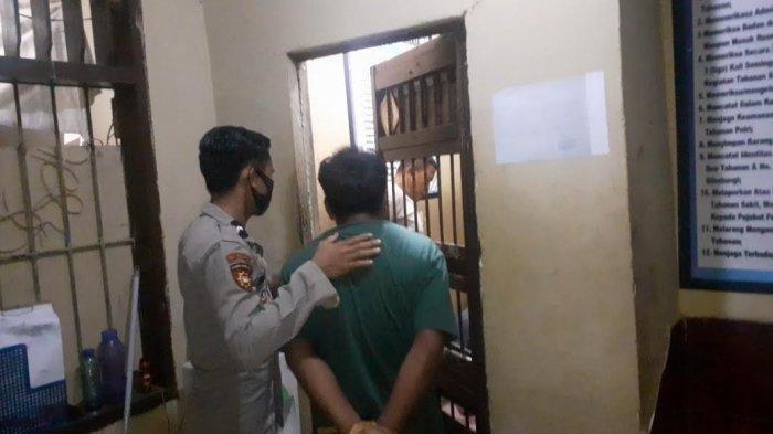Masdar, pelaku pencabulan di Kabupaten Jeneponto ditangkap, Selasa (226/2021) malam.