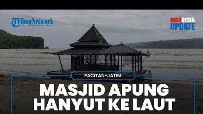 Subhanallah, Masjid Apung Hanyut di Pantai Selatan Jawa Tetapi Kondisinya Masih Utuh