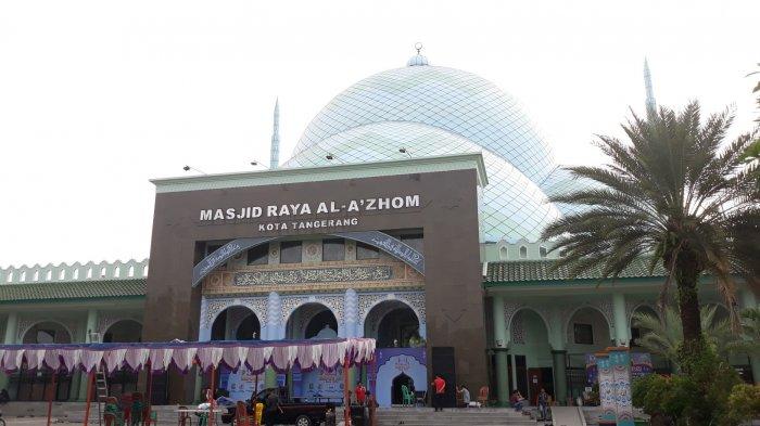 Unik, Desain Masjid Al-Azhom Tangerang Mirip Benteng Perang