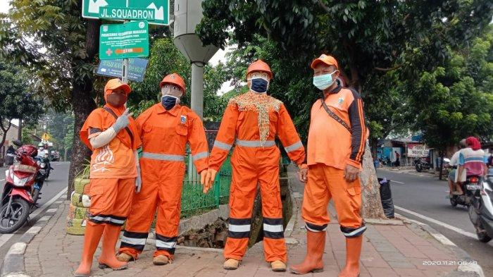 Jadi Pahlawan Kebersihan, Ada Maskot Kebersihan Berupa Patung Sepasang PPSU di Halim
