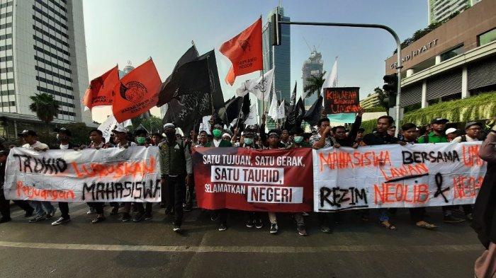 Berita Foto: Massa Aksi Mujahid 212 di Sekitaran Bundaran HI, Peserta Bawa Kuda