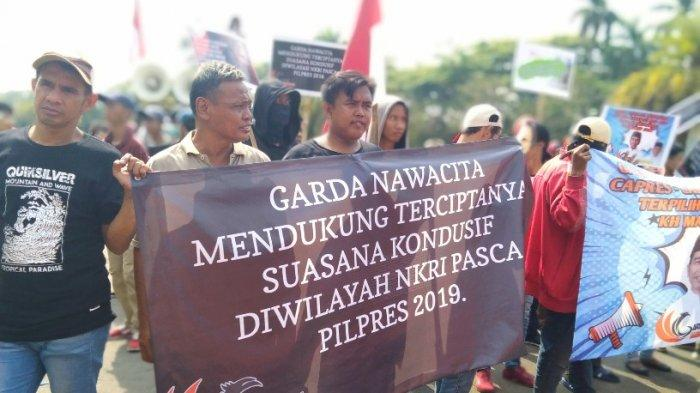 Aksi di Kawasan Patung Kuda Jakarta Pusat, Ini yang Disuarakan Massa Komite Nasional Garda Nawacita
