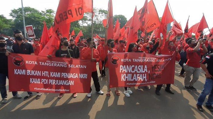 PDIP Tangsel Tuding Massa HTI Sebagai Terduga Pelaku Pembakaran Bendera Partai