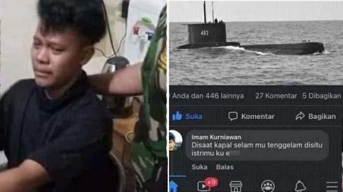 Ancam Mau Setubuhi Istri Awak KRI Nanggala, Petani Nangis Kejer saat Ditangkap: Ampun Pak, Ampun!