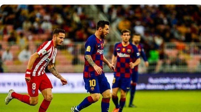 Hasil Piala Super Spanyol - Lionel Messi Cetak Gol Pakai Kaki Kanan, Barcelona Gugur