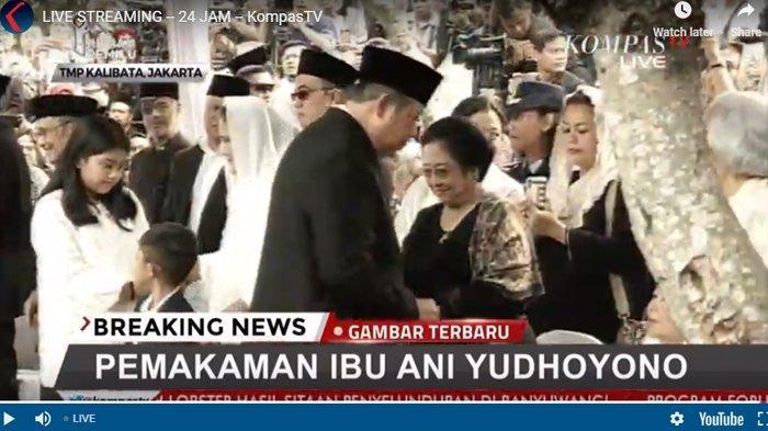 Datang di Upacara Pemakaman Ani Yudhoyono, Begini Reaksi Megawati Saat Bersalaman dengan SBY