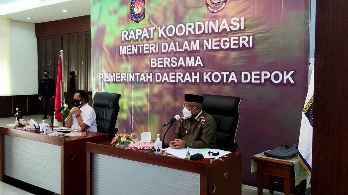 Rapat Koordinasi dengan Pemkot Depok, Mendagri Tito Karnavian Bahas Pengendalian Covid-19