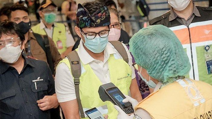 5 Hari Dilantik Jadi Menparekraf, Sandiaga Uno Blusukan ke Bali: Cek Prokes di Bandara Ngurah Rai