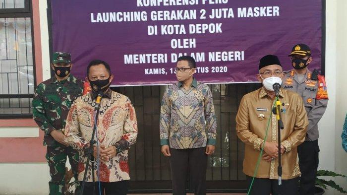 Mendagri Tito Karnavian Launching Gerakan 2 Juta Masker di Depok