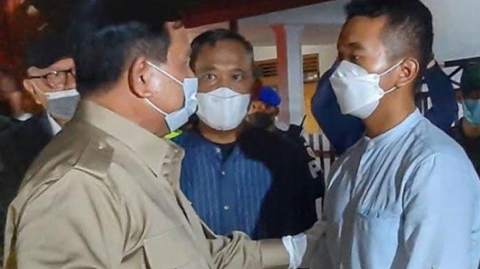 Momen Menteri Pertahanan Prabowo Subianto memberi support putra sulung Kolonel Laut (P) Harry Setiawan