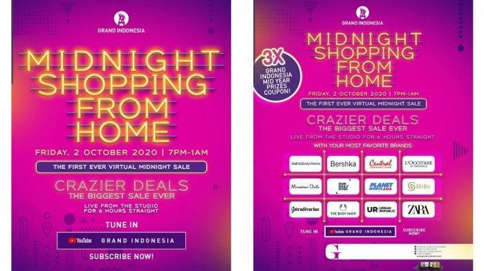 Grand Indonesia Gelar Midnight Shopping Beri Diskon Secara Virtual Khusus Malam Ini