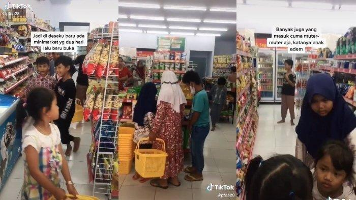 Aksi Sejumlah Bocah Kegirangan Serbu Sebuah Minimarket Pertama di Desa hingga Cuma Numpang Ngadem