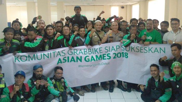Pengemudi GrabBike Deklarasi Dukung Asian Games: Tidak Akan Melakukan Sesuatu yang Mengganggu