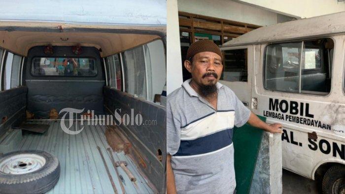 Mobil jenazah yang dibeli Lilik, warga Kampung Gantungan, Makamhaji, Kartasura Sukoharjo. Jadi kisah viral di media sosial.