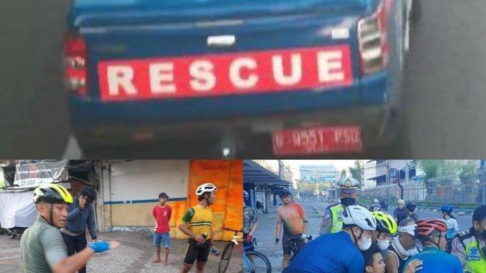 Mobil Rescue Plat Merah Tabrak Pesepeda hingga Terpental, Cuma Berhenti Sebentar Lalu Kabur