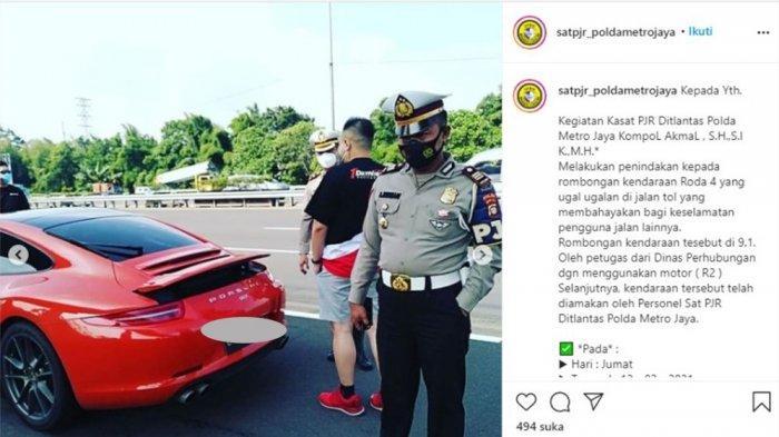 Petugas Dishub Kawal Konvoi Mobil Sport Ugal-ugalan, Polda Metro Jaya: yang Berhak Kawal hanya Polri