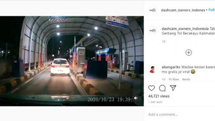 Viral Honda Brio Putih Terobos Palang Pintu Tol Becakayu, Pengemudi Akhirnya Menyerahkan Diri