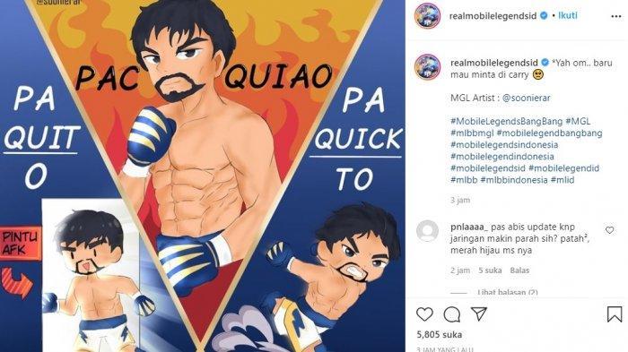 Mobile Legends: Bang Bang Rilis Manny Pacquiao Jadi Skin Hero Paquito, Adu Tinju di Land of Dawn