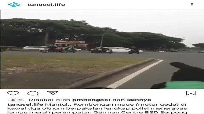 Polantas Tangsel Periksa CCTV Lacak Konvoi Moge dan Patwal yang Menerobos Lampu Merah