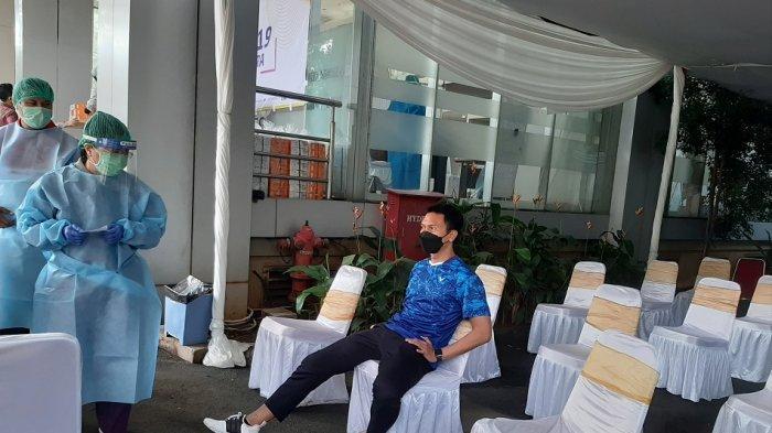 Suasana vaksinasi atlet, pelatih dan tenaga pendukung di Rumah Sakit Olahraga Nasional