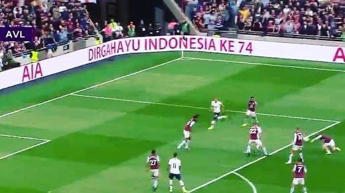 Bangga, Ucapan 'Dirgahayu ke-74 Indonesia' Muncul di Laga Tottenham Hotspur Vs Aston Villa