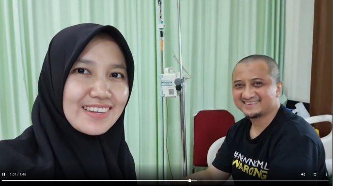 Terbaring Lemas saat Transfusi Darah, Terekam Momen Ustaz Yusuf Mansur Menangis Dengar Ucapan Istri