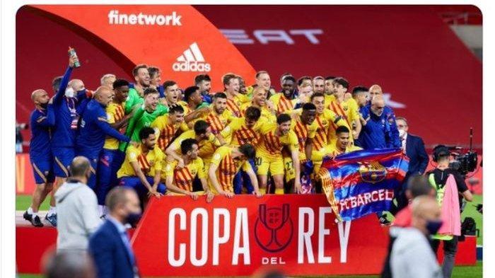 Juara Copa del Rey, Barcelona Akan Lakukan Apapun Demi Pertahankan Messi