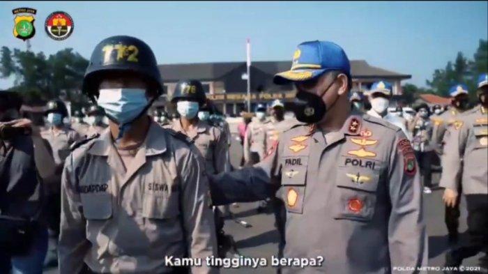 Tak Kenal Kapolda Metro Jaya, Siswa Polisi Asal Kaltara Baru Sadar Irjen Fadil Imran di Sampingnya