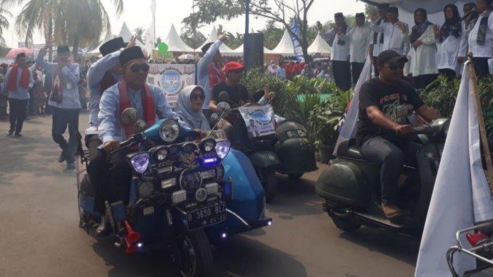 Konvoi Vespa Modifikasi Meriahkan Pawai Taaruf MTQ Kota Tangerang
