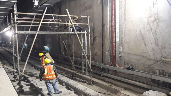 Pembangunan Stasiun MRT Monas Masih Berlanjut, 102 Dinding Penahan Tanah Jadi Pondasi