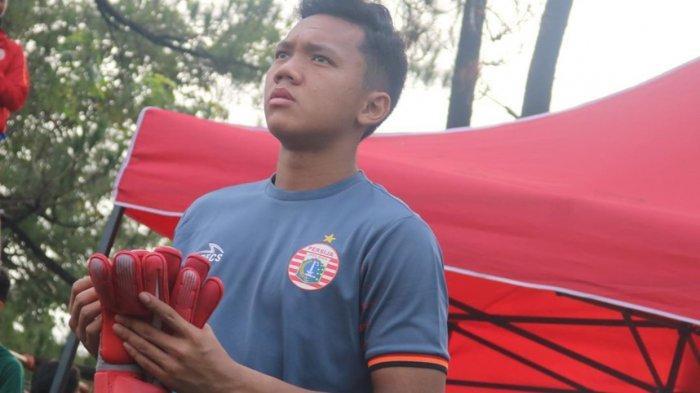 Aksi pemain muda Persija Jakarta, Muhammad Risky Sudirman saat berlaga memperkuat timnya.
