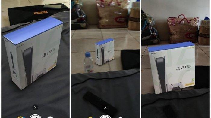 Cara Mudah Membuat Instagram Stories Foto PlayStation 5, Pakai Filter AR PS5 Box