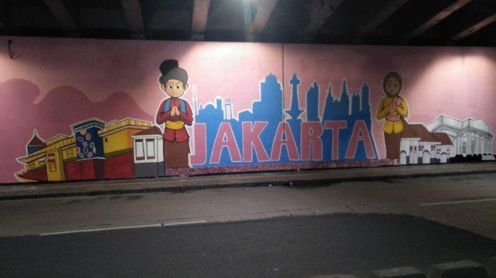 Mural Bertema Jakarta Kolaborasi di Kolong Flyover Jatinegara Ditarget Rampung Pekan Ini