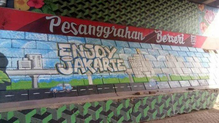 Cegah Vandalisme, Sejumlah Kolong Tol di Pesanggrahan Dicat Mural