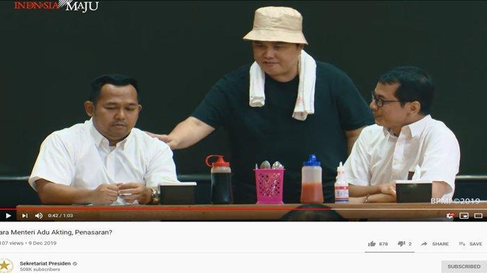 Main Drama Peringati Hari Antikorupsi Sedunia, Erick Thohir Jadi Tukang Bakso & Sindir Dirut Garuda