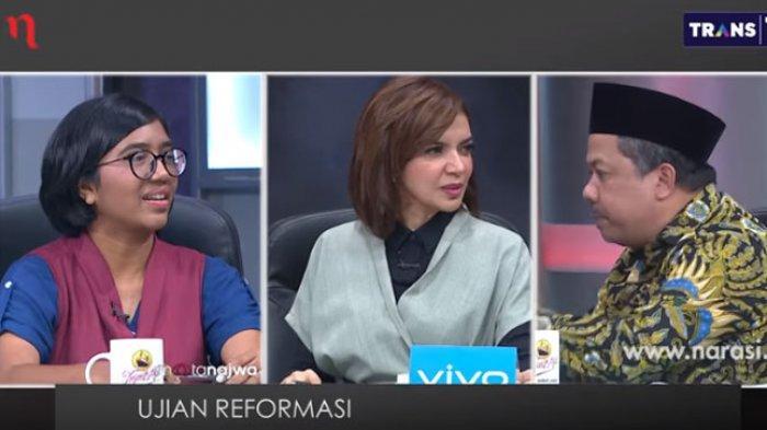 Debat Panas soal KPK, Najwa Shihab Sampai Kewalahan Lerai Fahri Hamzah vs Ketua Umum YLBHI