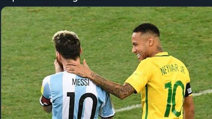 Prediksi Brasil vs Argentina di Kualifikasi Piala Dunia 2022, Pertarungan Neymar Lawan Lionel Messi