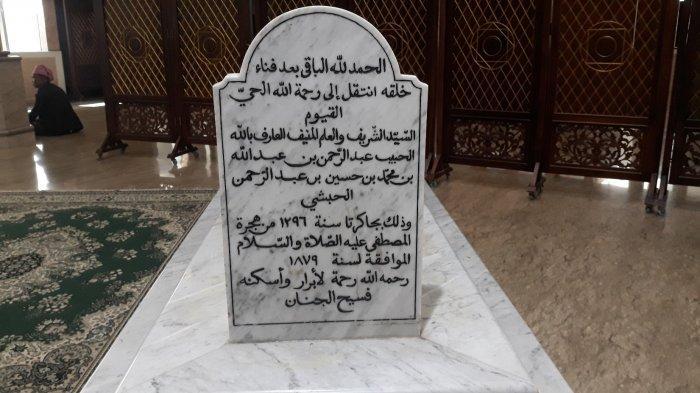 Nisan makam Habib Abdurrahman bin Abdullah Al Habsyi pada Senin (12/4/2021).