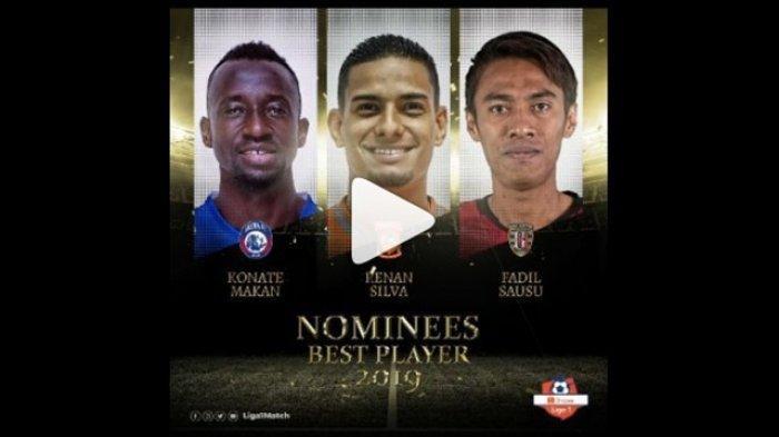Incaran Persija dan Persib Kandidat Pemain Terbaik Liga 1 2019, Jadi Milik Bobotoh atau Jakmania?