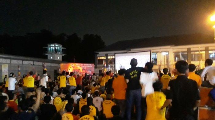 Seru dan Menegangkan, Ribuan Warga Binaan Rutan Cilodong Antusias Nonton Bareng Final Piala Dunia