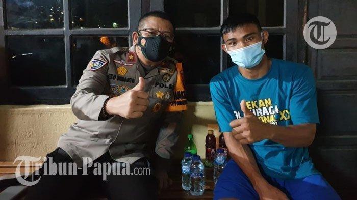 Wakapolda Papua Brigjen Pol Eko Rudi Sudarto saat melakukan mediasi dengan petinju asal DKI Jakarta.