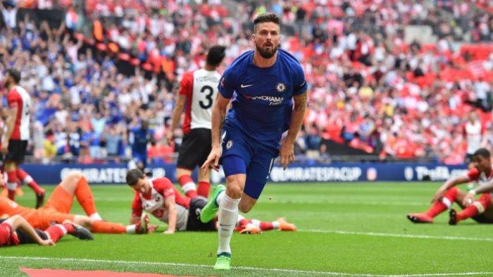 Hasil Liga Champions - Gol Spektakuler Olivier Giroud Buat Chelsea Sukses Kalahkan Atletico Madrid