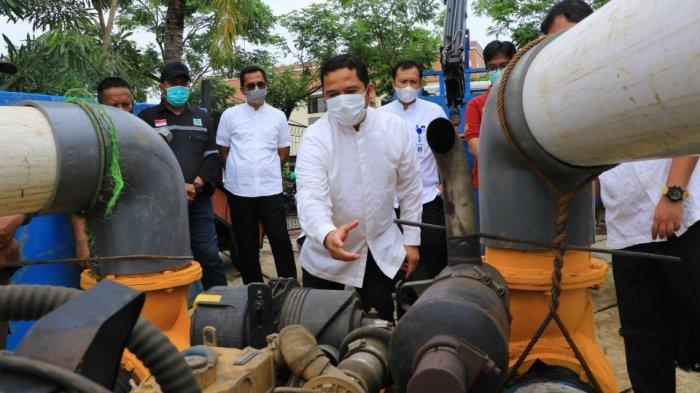 Antisipasi Banjir, Dinas PUPR Kota Tangerang Modifikasi Mesin Pompa Ukuran Raksasa