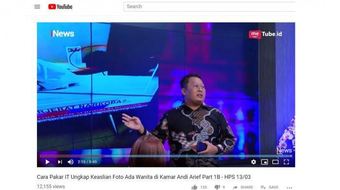 Pakar IT Bocorkan Wanita Misterius di Kamar Hotel saat Andi Arief Ditangkap, Ini Analisanya