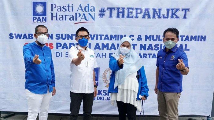 Top dan Patut Jadi Contoh, Fraksi PAN DPRD DKI Berikan Suntik Vitamin C Gratis untuk 2.000 Orang