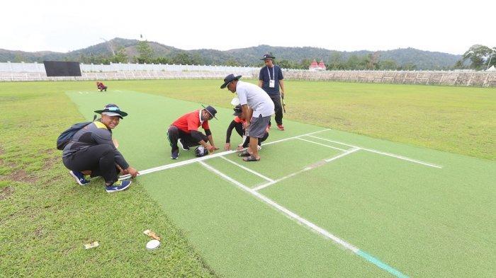 Cabor Cricket PON Papua Bertanding Besok, Panitia Matangkan Persiapan Lapangan