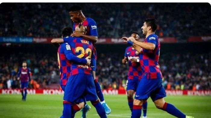Hasil Liga Spanyol: Lionel Messi Menggila, Barcelona Menang Telak dan Meroket di Puncak Klasemen