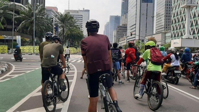 Tiap Minggu, Jalan MH Thamrin-Sudirman Menjadi Favorit Pesepeda