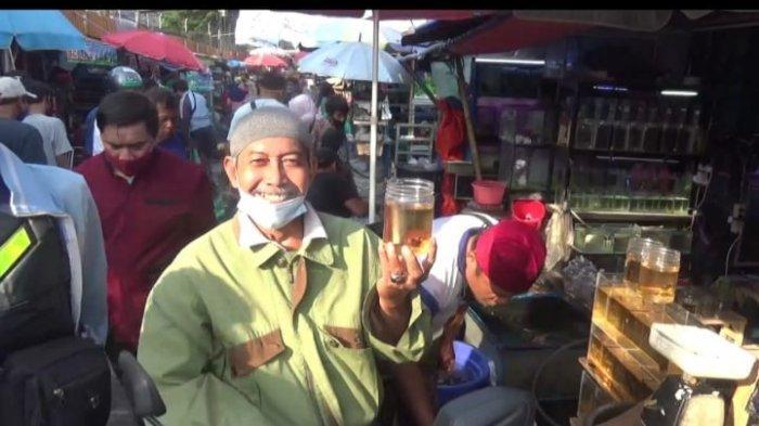 Suasana di Pasar Ikan Jatinegara, Jakarta Timur, Senin (9/11/2020).